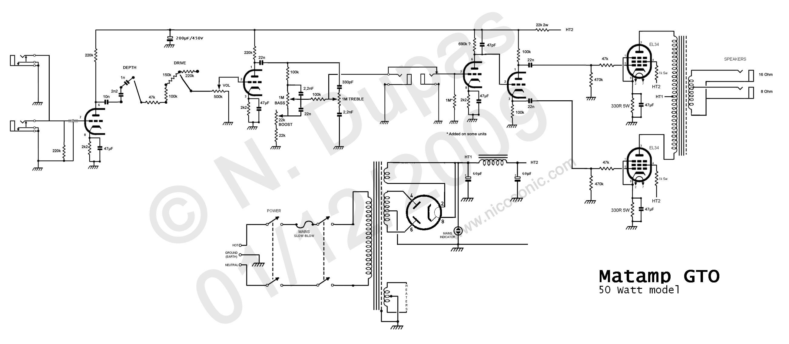 soldano sl60  pedals schematics